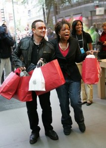 Bono Oprah Shopping